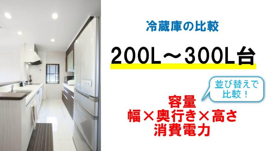 二人用・三人用のおすすめの冷蔵庫【200L~399L】大きさサイズと消費電力の比較